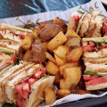Club Sandwich & Fries